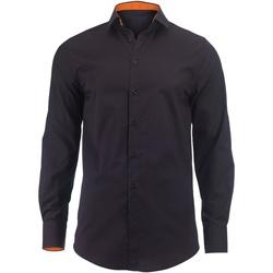 textil Hombre Camisas manga larga Alexandra Hospitality Negro/Naranja