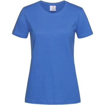 textil Mujer Camisetas manga corta Stedman  Azul eléctrico
