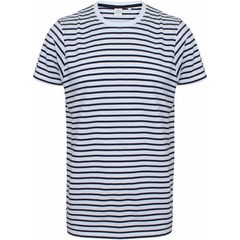 textil Camisetas manga corta Skinni Fit SF202 Blanco/Azul Marino