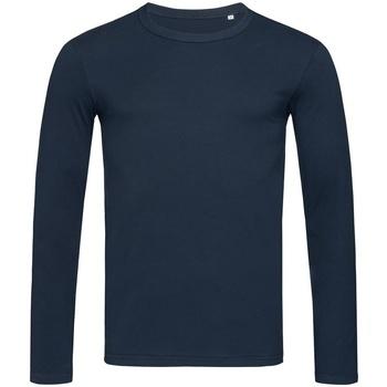 textil Hombre Camisetas manga larga Stedman Stars  Azul Marina