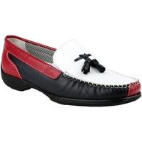 Zapatos Mujer Mocasín Cotswold BIDDLESTONE Blanco/marino/rojo