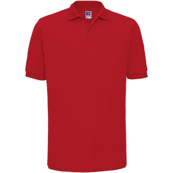 textil Hombre Polos manga corta Russell Ripple Rojo Clásico