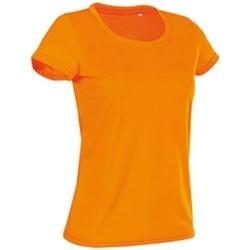 textil Mujer Camisetas manga corta Stedman Cotton Touch Naranja Cyber
