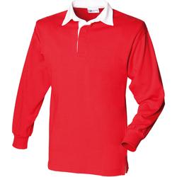 textil Hombre Polos manga larga Front Row FR100 Rojo/Blanco