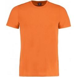 textil Hombre Camisetas manga corta Kustom Kit KK504 Naranja Fuerte Jaspeado