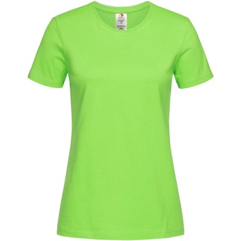 textil Mujer Camisetas manga corta Stedman  Verde Kiwi