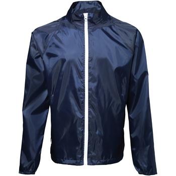 textil Hombre Cortaviento 2786  Azul marino / Blanco