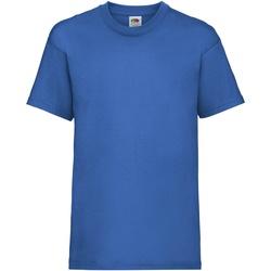 textil Niños Camisetas manga corta Fruit Of The Loom 61033 Azul