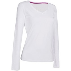 textil Mujer Camisetas manga larga Stedman Stars  Blanco