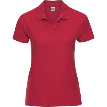 textil Mujer Polos manga corta Russell J577F Rojo