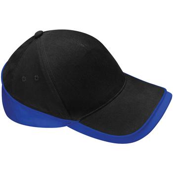 Accesorios textil Gorra Beechfield B171 Negro/Azul royal