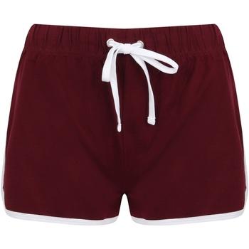 textil Mujer Shorts / Bermudas Skinni Fit SK69 Burdeos/Blanco