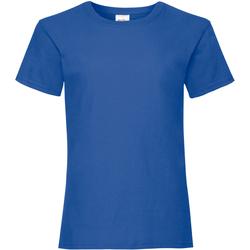 textil Niña Camisetas manga corta Fruit Of The Loom Valueweight Azul