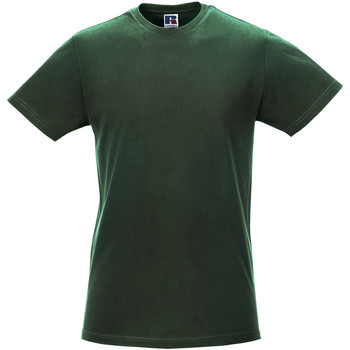 textil Hombre Camisetas manga corta Russell R155M Verde botella