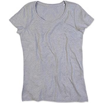 textil Mujer Camisetas manga corta Stedman Stars Lisa Gris Jaspeado