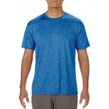 textil Hombre Camisetas manga corta Gildan Performance Azul royal jaspeado