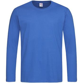 textil Hombre Camisetas manga larga Stedman  Azul eléctrico