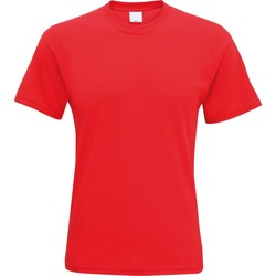 textil Hombre Camisetas manga corta Universal Textiles 61082 Rojo Fuerte