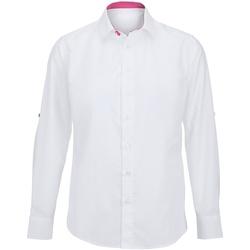 textil Hombre Camisas manga larga Alexandra Hospitality Blanco/Rosa