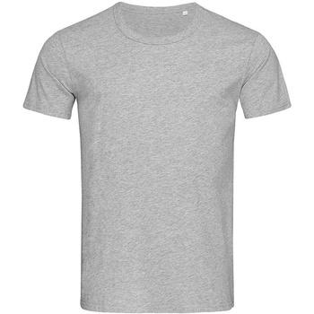 textil Hombre Camisetas manga corta Stedman Stars Stars Gris Jaspeado