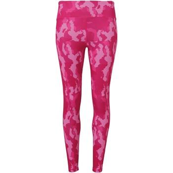 textil Mujer Leggings Tridri TR032 Rosa Camuflaje