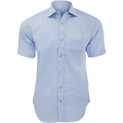 textil Hombre Camisas manga corta Kustom Kit KK115 Azul claro