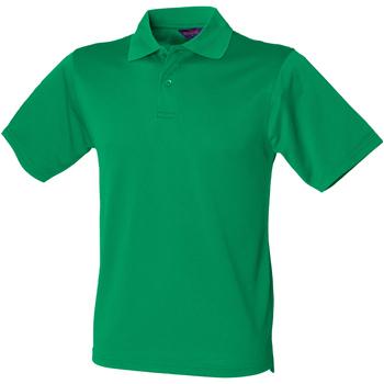 textil Hombre Polos manga corta Henbury HB475 Verde césped