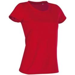 textil Mujer Camisetas manga corta Stedman Cotton Touch Rojo pasión