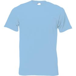 textil Hombre Camisetas manga corta Universal Textiles 61082 Azul Claro