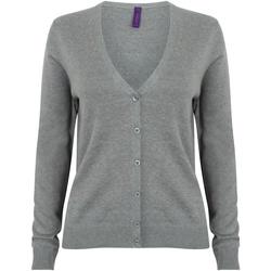 textil Mujer Chaquetas de punto Henbury HB726 Gris