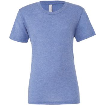 textil Hombre Camisetas manga corta Bella + Canvas CA3413 Azul Jaspeado