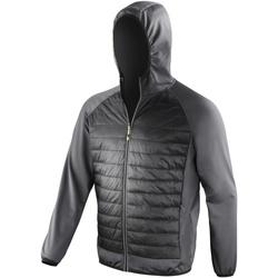 textil Hombre Cortaviento Spiro  Negro/ Carbón