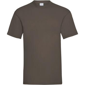 textil Hombre Camisetas manga corta Universal Textiles 61036 Marrón oscuro
