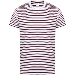 textil Camisetas manga corta Skinni Fit SF202 Blanco/Granate