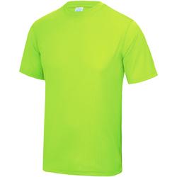 textil Niños Camisetas manga corta Awdis JC01J Verde Eléctrico