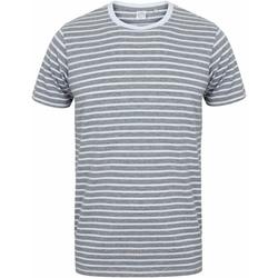 textil Camisetas manga corta Skinni Fit SF202 Gris Jaspeado/blanco