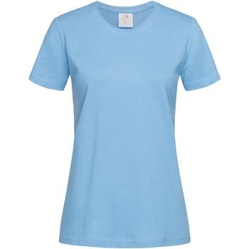 textil Mujer Camisetas manga corta Stedman  Azul claro