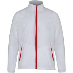 textil Hombre Cortaviento 2786  Blanco/Rojo