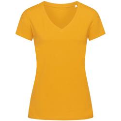 textil Mujer Camisetas manga corta Stedman Stars Janet Amarillo Indiano