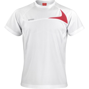 textil Hombre Camisetas manga corta Spiro S182M Blanco/Rojo