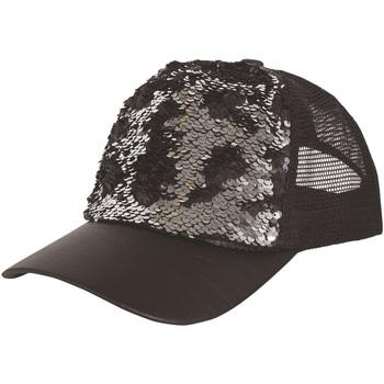 Accesorios textil Gorra Bristol Novelty  Negro/Plateado