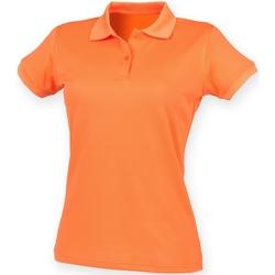 textil Mujer Polos manga corta Henbury Coolplus Naranja