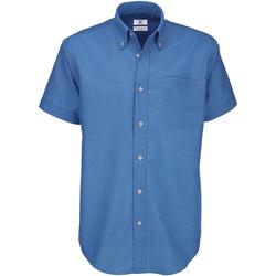 textil Hombre Camisas manga corta B And C SMO02 Azul chip