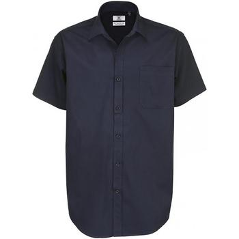 textil Hombre Camisas manga corta B And C Sharp Azul real
