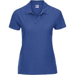 textil Mujer Polos manga corta Russell J577F Azul eléctrico