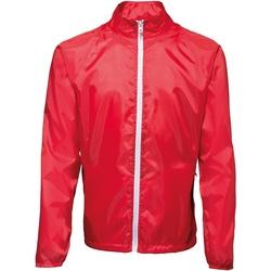 textil Hombre Cortaviento 2786  Rojo / Blanco