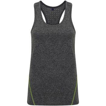 textil Mujer Camisetas sin mangas Tridri TR041 Negro Jaspeado