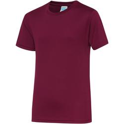 textil Niños Camisetas manga corta Awdis JC01J Burdeos