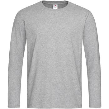 textil Hombre Camisetas manga larga Stedman  Gris Jaspeado