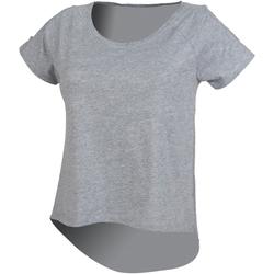 textil Mujer Camisetas manga corta Skinni Fit SK233 Gris
